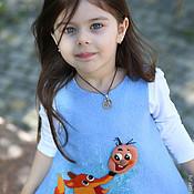 """Работы для детей, ручной работы. Ярмарка Мастеров - ручная работа валяное платье для девочки """"колобок"""". Handmade."""