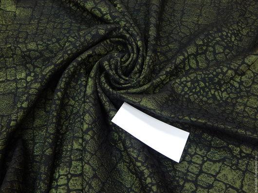 Шитье ручной работы. Ярмарка Мастеров - ручная работа. Купить Итальянская  ткань, Жаккард. Handmade. Тёмно-зелёный, ткань