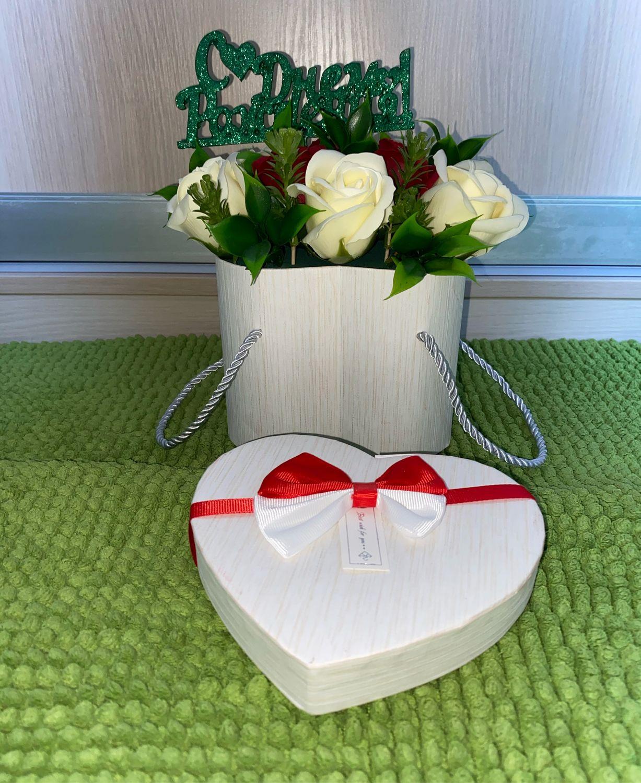Букет из мыльных роз 9шт с топером, Декор, Москва,  Фото №1
