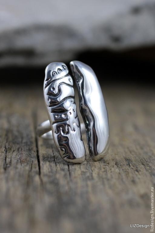 Кольца ручной работы. Ярмарка Мастеров - ручная работа. Купить Встреча. Кольцо из серебра 925 пр. Handmade. Серебро