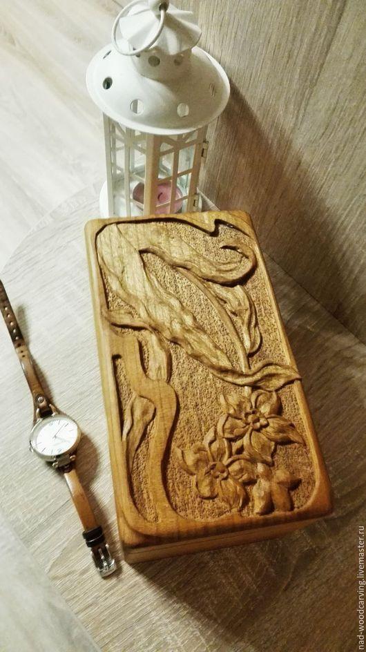 Шкатулки ручной работы. Ярмарка Мастеров - ручная работа. Купить Шкатулка Подарок для Бекки. Handmade. Резьба по дереву, резной, деревянный