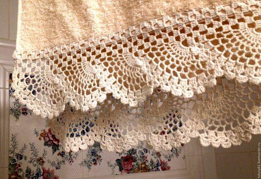Текстиль, ковры ручной работы. Ярмарка Мастеров - ручная работа. Купить Полотенце махровое с ручным кружевом. Handmade. Бежевый