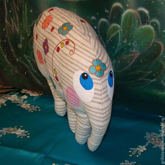 """Игрушки животные, ручной работы. Ярмарка Мастеров - ручная работа. Купить Текстильная игрушка-подушка слон """"Луисия"""". Handmade. Слон"""
