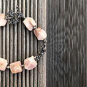 Украшения handmade. Livemaster - original item Bracelet of SAKURA. Natural pink opal, Anna Chernykh accessories. Handmade.