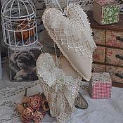 Куклы и игрушки handmade. Livemaster - original item Dolls Tilda: Hearts boho style Tilde. Handmade.