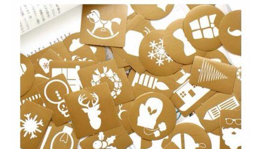 Подарочная упаковка ручной работы. Ярмарка Мастеров - ручная работа. Купить Наклейки Рождество. Handmade. Наклейки, наклейка на коробку