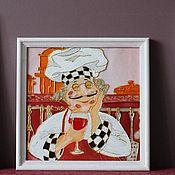 """Картины и панно ручной работы. Ярмарка Мастеров - ручная работа Триптих """"Веселые повара"""". Handmade."""