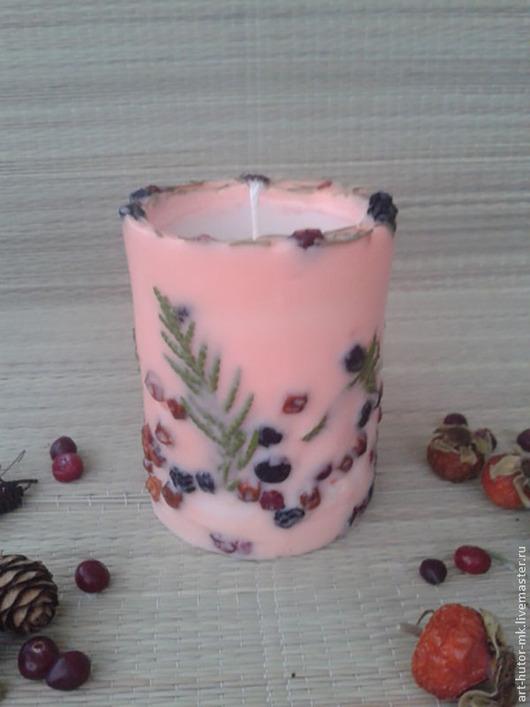 """Свечи ручной работы. Ярмарка Мастеров - ручная работа. Купить Эко-свеча из воска """"Розовый вечер"""". Handmade. подарок на новоселье"""