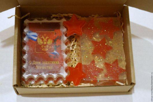 Подарочные наборы косметики ручной работы. Ярмарка Мастеров - ручная работа. Купить Подарочный набор из мыла Защитнику отечества. Handmade.