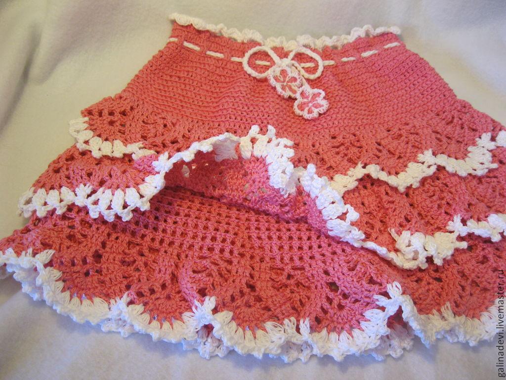 Вязание юбки с рюшами 906