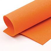 Материалы для творчества ручной работы. Ярмарка Мастеров - ручная работа Корейский мягкий фетр 1,5 мм, ST-51(люминесцентно-оранжевый). Handmade.