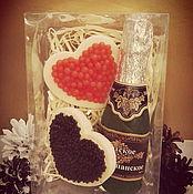 Косметика ручной работы. Ярмарка Мастеров - ручная работа Набор  мыла сердечки с икрой+шампанское. Handmade.