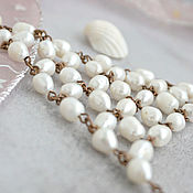 Украшения handmade. Livemaster - original item Slave bracelet on the hand of pearls