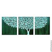 Картины и панно handmade. Livemaster - original item Turquoise tree. Handmade.