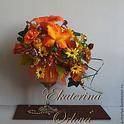 Цветы и флористика ручной работы. Ярмарка Мастеров - ручная работа Комплимент  (букет из конфет). Handmade.