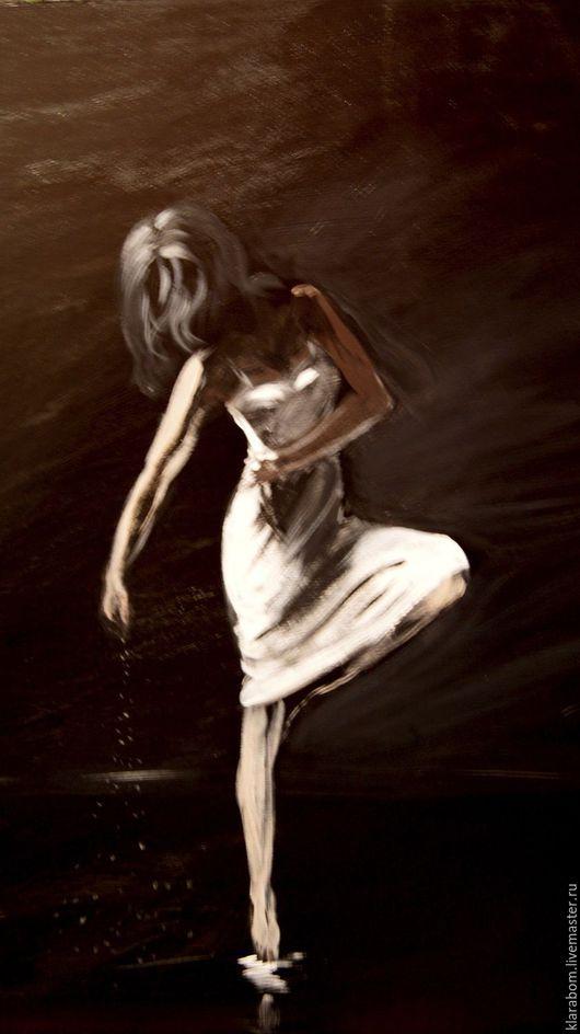 Люди, ручной работы. Ярмарка Мастеров - ручная работа. Купить танец. Handmade. Черный, красный багет, двп, акриловые краски