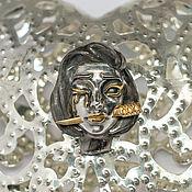 Украшения handmade. Livemaster - original item Silver Gothic mono earring