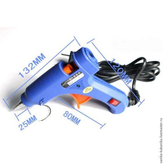 Клеевой термопистолет для клеевых стержней 0,7 см, цвет синий, цена за 1 шт.