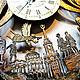 Yekaterinburg city clock, original wall clock made of wood. Watch. Original wall clocks. My Livemaster. Фото №4