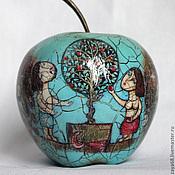 """Подарки к праздникам ручной работы. Ярмарка Мастеров - ручная работа Яблоко """"Адам и Ева"""" № 2. Handmade."""