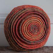 Для дома и интерьера ручной работы. Ярмарка Мастеров - ручная работа Подушка вязаная текстильна круглая Солнце Майя. Handmade.