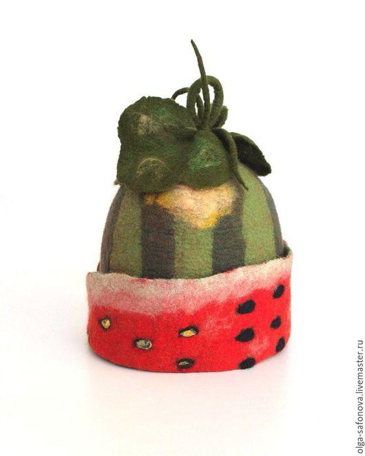 Персональные подарки ручной работы. Ярмарка Мастеров - ручная работа. Купить Арбузная шапка. Handmade. Комбинированный, подарок