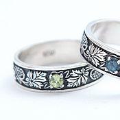 Украшения handmade. Livemaster - original item Ring with grape vines and stone. Handmade.