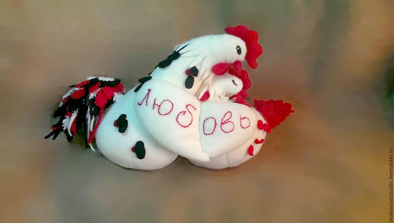 Неразлучники петушок и курочка, Подарки, Москва, Фото №1