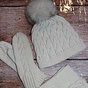 Аксессуары handmade. Livemaster - original item Winter knitted set. Handmade.