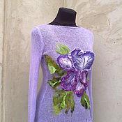 Одежда ручной работы. Ярмарка Мастеров - ручная работа свитерок вязаный с декором. Handmade.