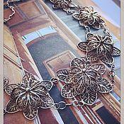 Винтаж handmade. Livemaster - original item Joisefina Cravenas Bracelet Necklace France 1940s. years. Handmade.