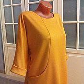 Одежда ручной работы. Ярмарка Мастеров - ручная работа Трикотажное платье оверсайз Янтарь. Handmade.