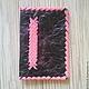 """Кошельки и визитницы ручной работы. Ярмарка Мастеров - ручная работа. Купить Обложка на паспорт из натуральной кожи """"розовая волна"""". Handmade."""