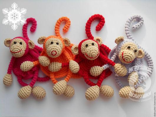 Игрушки животные, ручной работы. Ярмарка Мастеров - ручная работа. Купить Обезьянки - подвески. Handmade. Комбинированный, обезьяна символ 2016