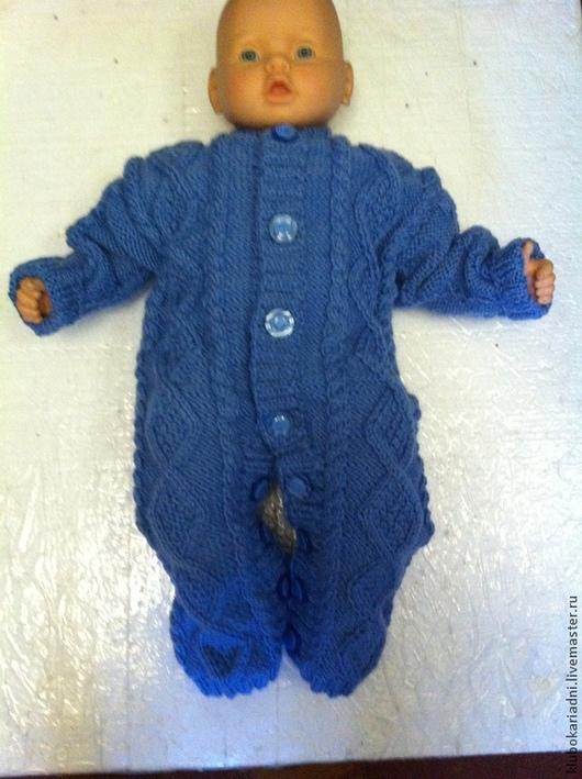 Одежда ручной работы. Ярмарка Мастеров - ручная работа. Купить Детский комбенизон. Handmade. Голубой, комбинезон для малыша