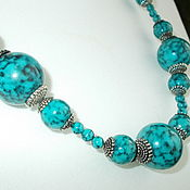 handmade. Livemaster - original item Vintage accessories: beads, TURQUOISE necklace. Handmade.