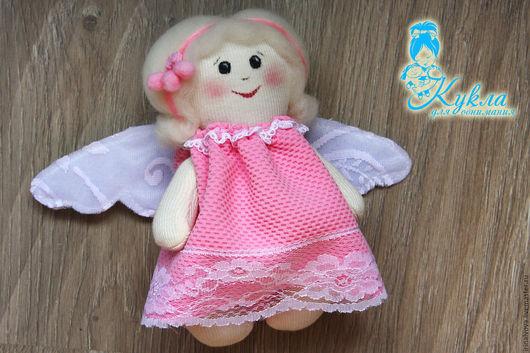 Сказочные персонажи ручной работы. Ярмарка Мастеров - ручная работа. Купить Ангелочек. Интерьерная куколка. Handmade. Розовый, ангел-хранитель