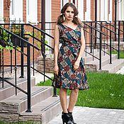 Одежда ручной работы. Ярмарка Мастеров - ручная работа V_012 Платье «Английское» в цветочек. Handmade.