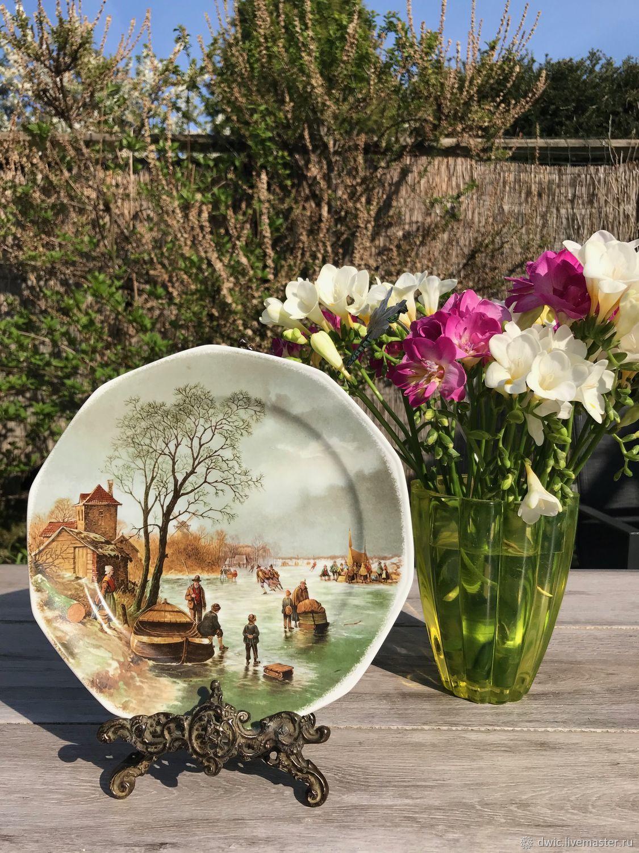 Decorative plate, 'On the rink', Germany, Vintage interior, Arnhem,  Фото №1