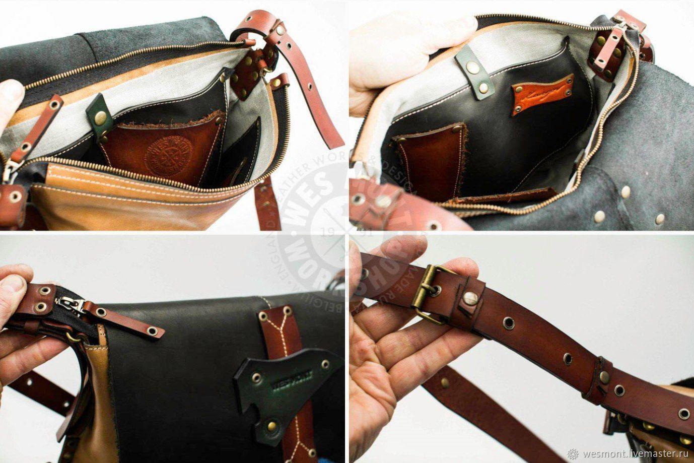d9aabe49dbc4 ... Мужские сумки ручной работы. Сумка кожаная универсальная ГАУЧО-4  Эксклюзивная, авторская работа.