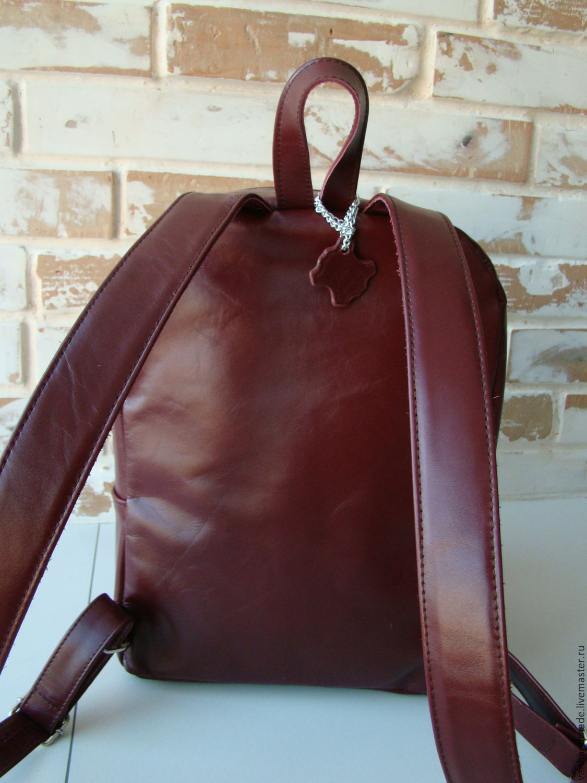 f1b864ec9672 Стильный кожаный рюкзак цвета Марсала   Бордовый рюкзак – купить в ...