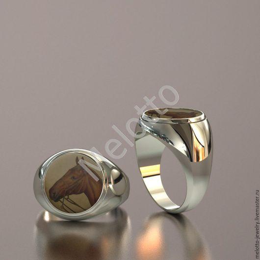 Персональные подарки ручной работы. Ярмарка Мастеров - ручная работа. Купить Кольцо из белого золота с эмалью. Handmade. Золото, кольцо