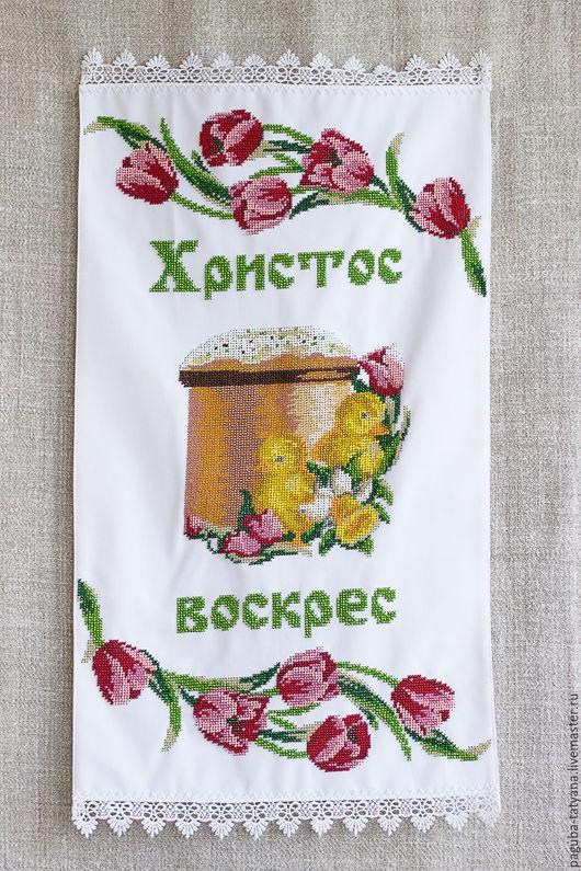 """Подарки на Пасху ручной работы. Ярмарка Мастеров - ручная работа. Купить """"Великдень"""" пасхальная салфетка. Handmade. Подарок, пасхальное украшение"""