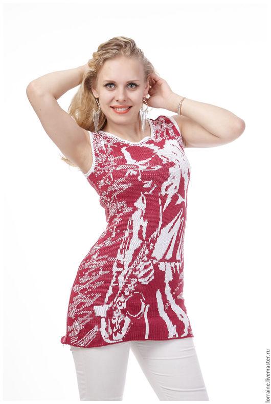 Вязаное платье  летнее  из хлопка   для смелой , спортивной  , многогранной девушки  обязательно обратит  взоры  на свою хозяйку !