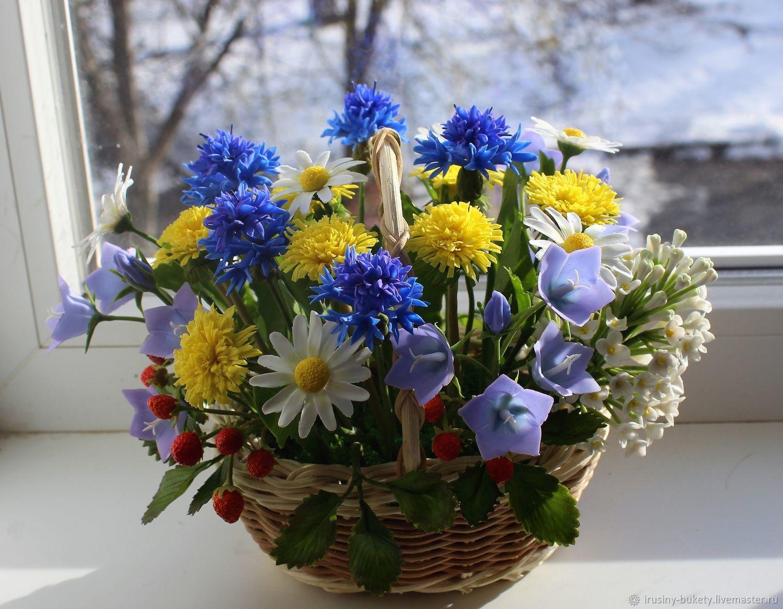 Букет полевых цветов из холодного фарфора, Цветы, Краснодар,  Фото №1
