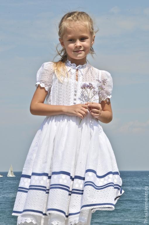 Хлопковое платье для девочки купить