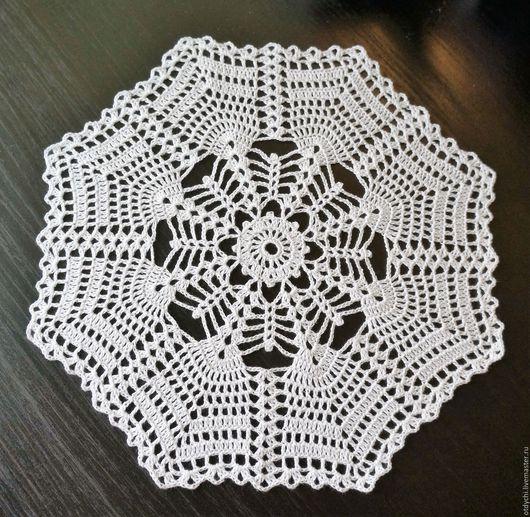 Текстиль, ковры ручной работы. Ярмарка Мастеров - ручная работа. Купить КАШТАН салфетка декоративная. Handmade. Белый, белая салфетка