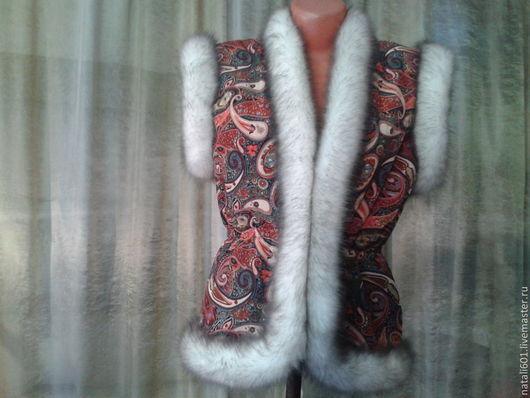 Жилеты ручной работы. Ярмарка Мастеров - ручная работа. Купить жилет в русском стиле -МОДНИЦА. Handmade. Теплая одежда
