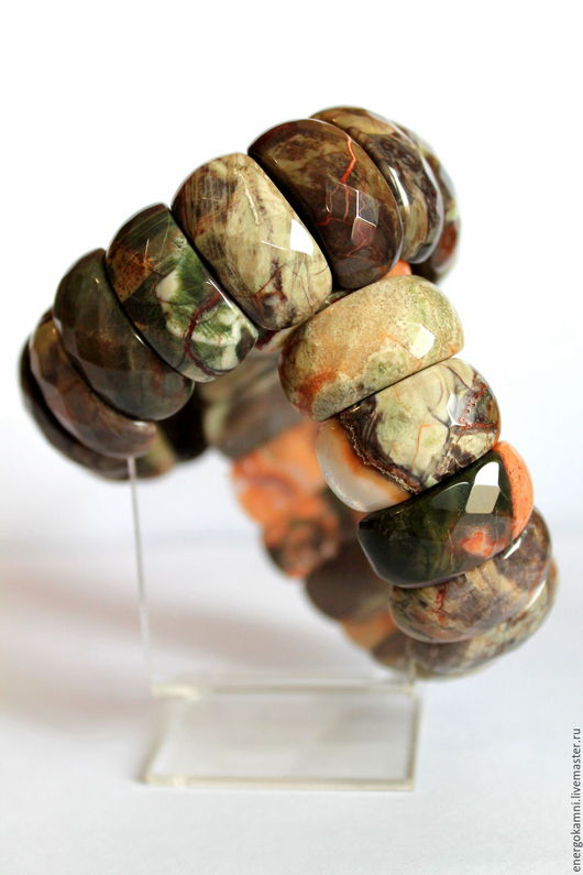 Браслеты ручной работы. Ярмарка Мастеров - ручная работа. Купить Браслет из натуральной природной яшмы (с огранкой). Handmade. Комбинированный