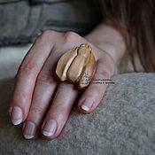 Украшения ручной работы. Ярмарка Мастеров - ручная работа Кольцо деревянное Мотылек 2. Handmade.
